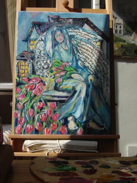 Obraz namalowany przez mamę laureatki konkursu