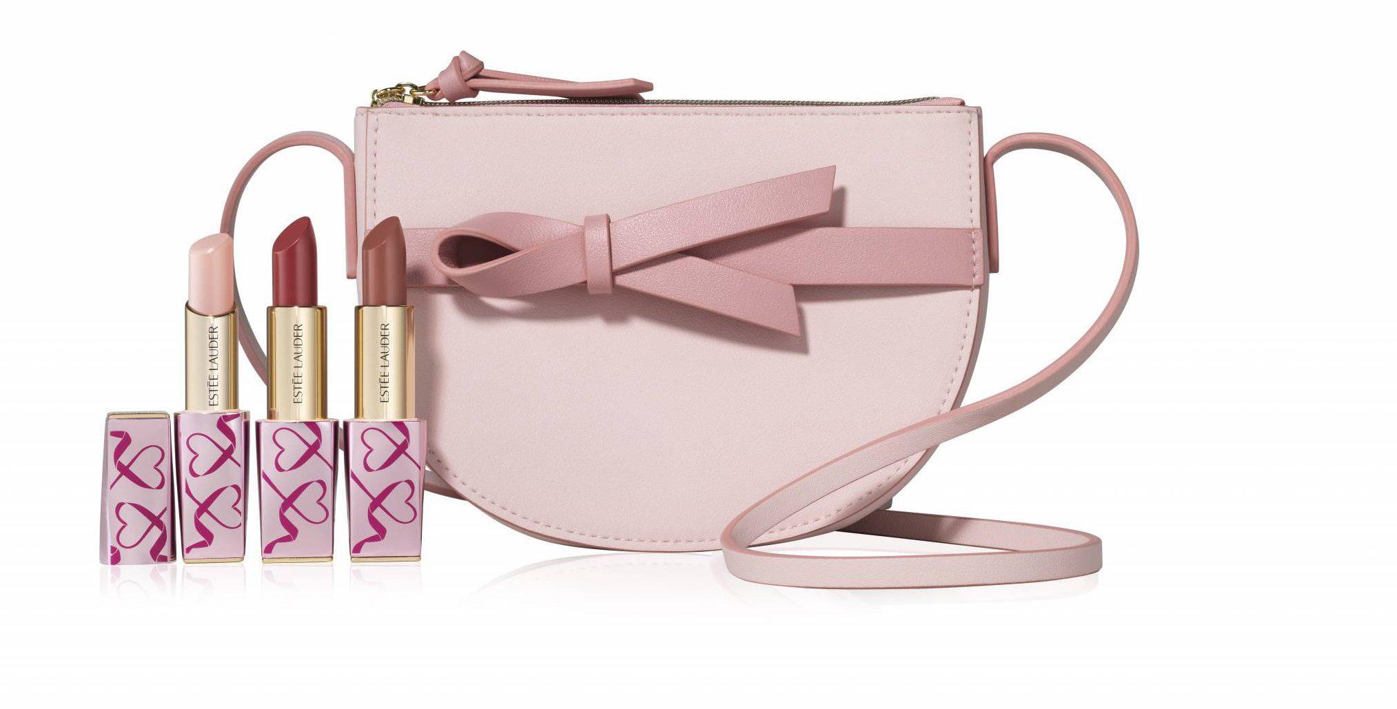 Kosmetyki z różową wstążką