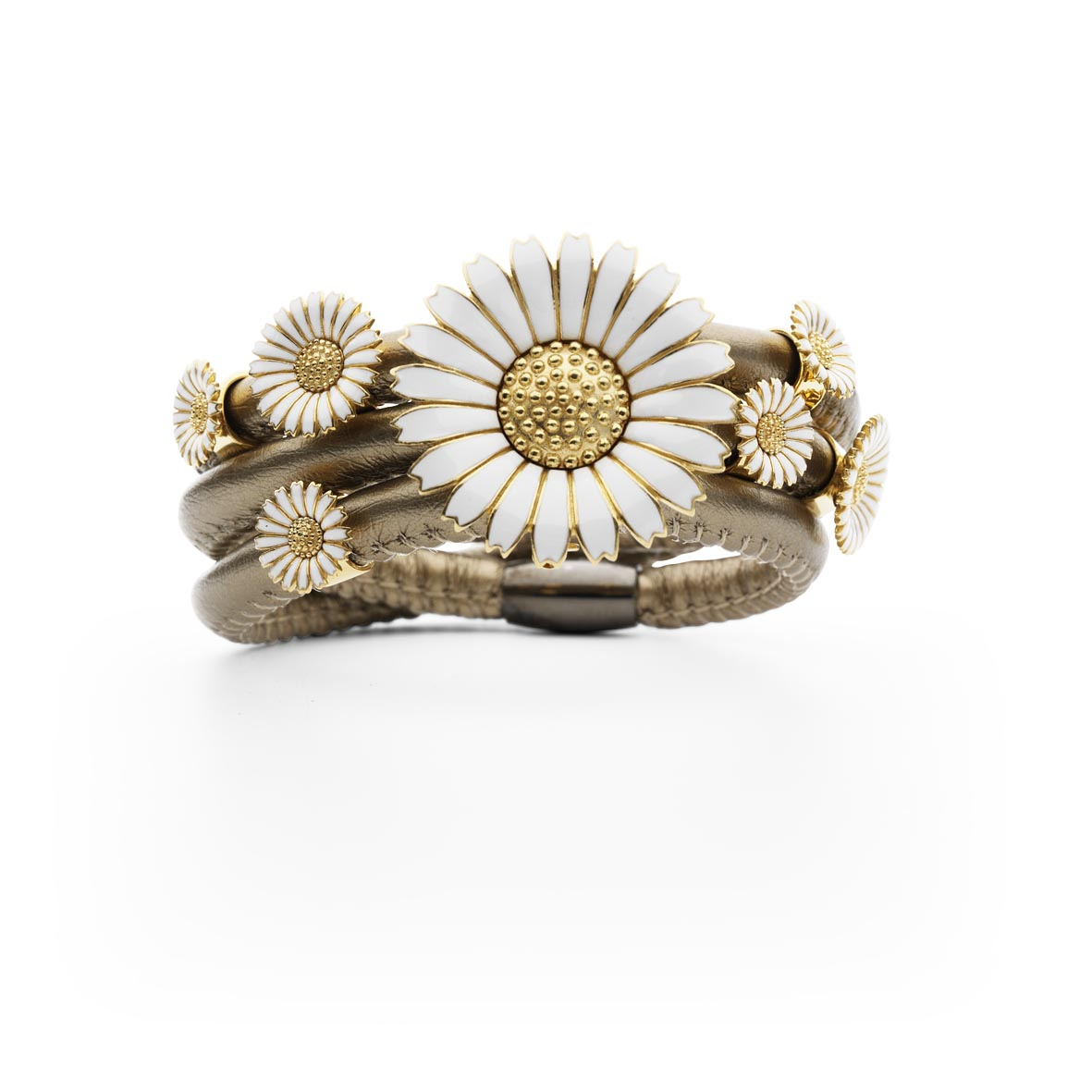 Story golden bracelet with daisies