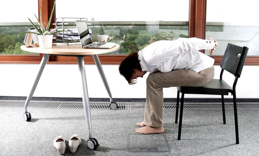 Joga w pracy: Asany przy biurku