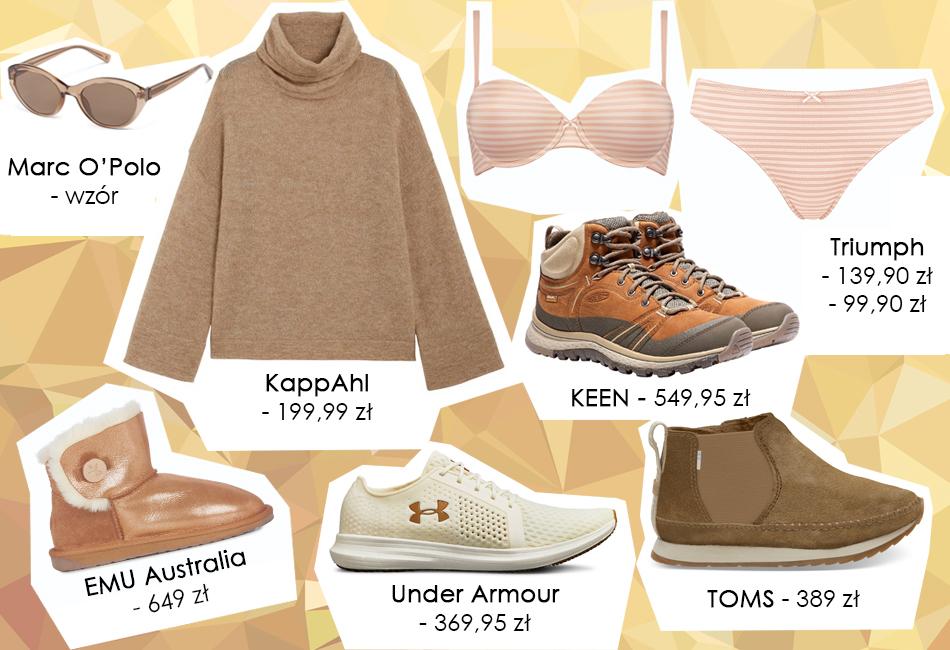 Postaw na ubrania i dodatki w odcieniach karmelu i złota!