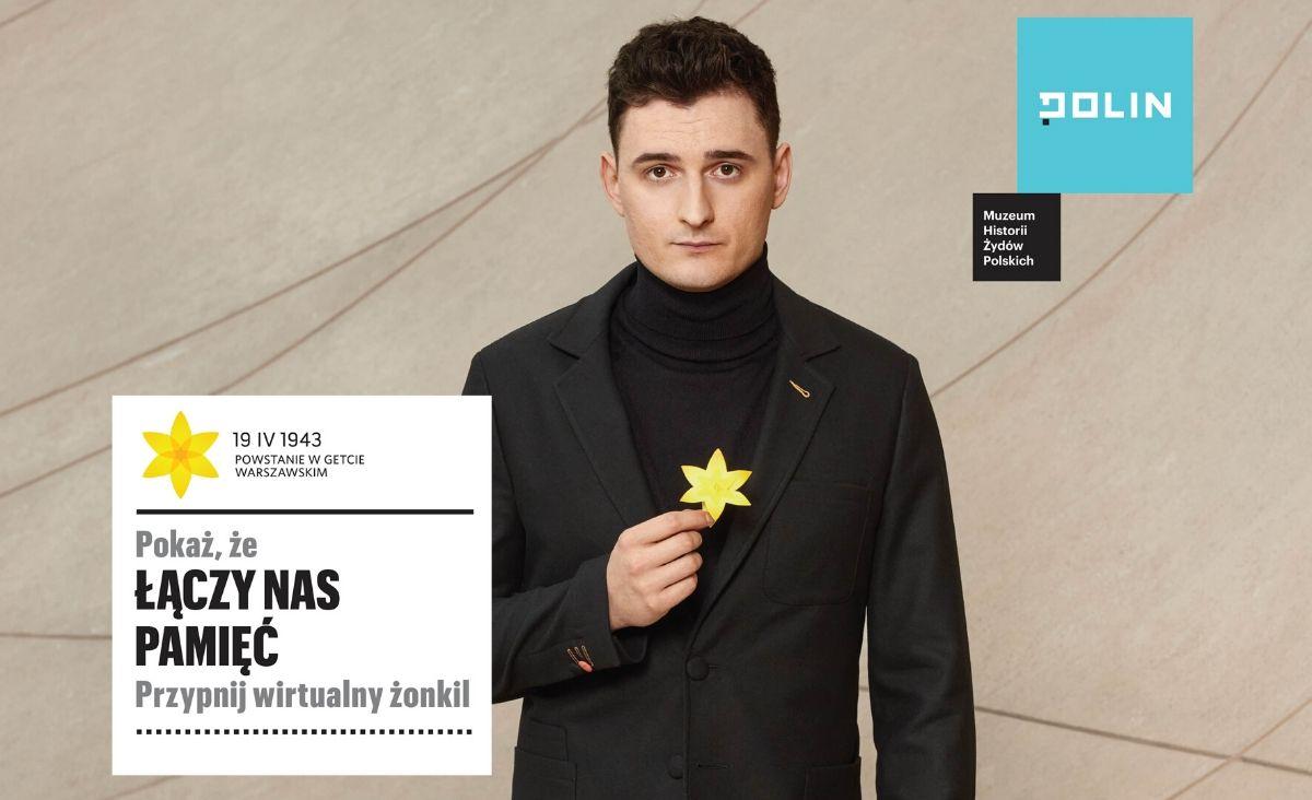 Wirtualne żonkile na rocznicę powstania w getcie warszawskim