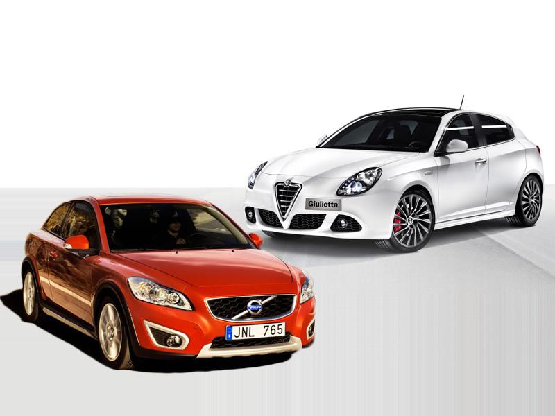 Volvo C30 i Alfa Romeo Gulietta - Kobiecy kompakt
