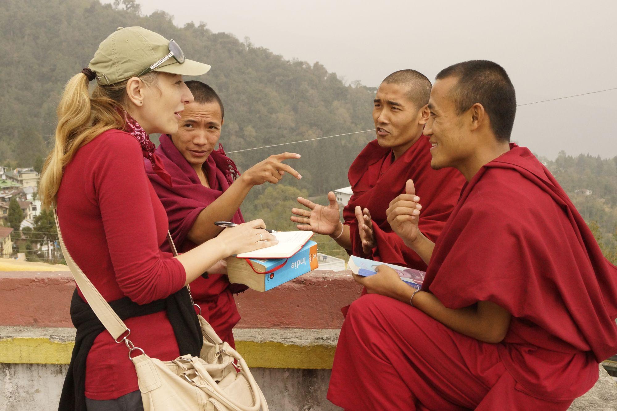 W rozmowie z sympatycznymi mnichami