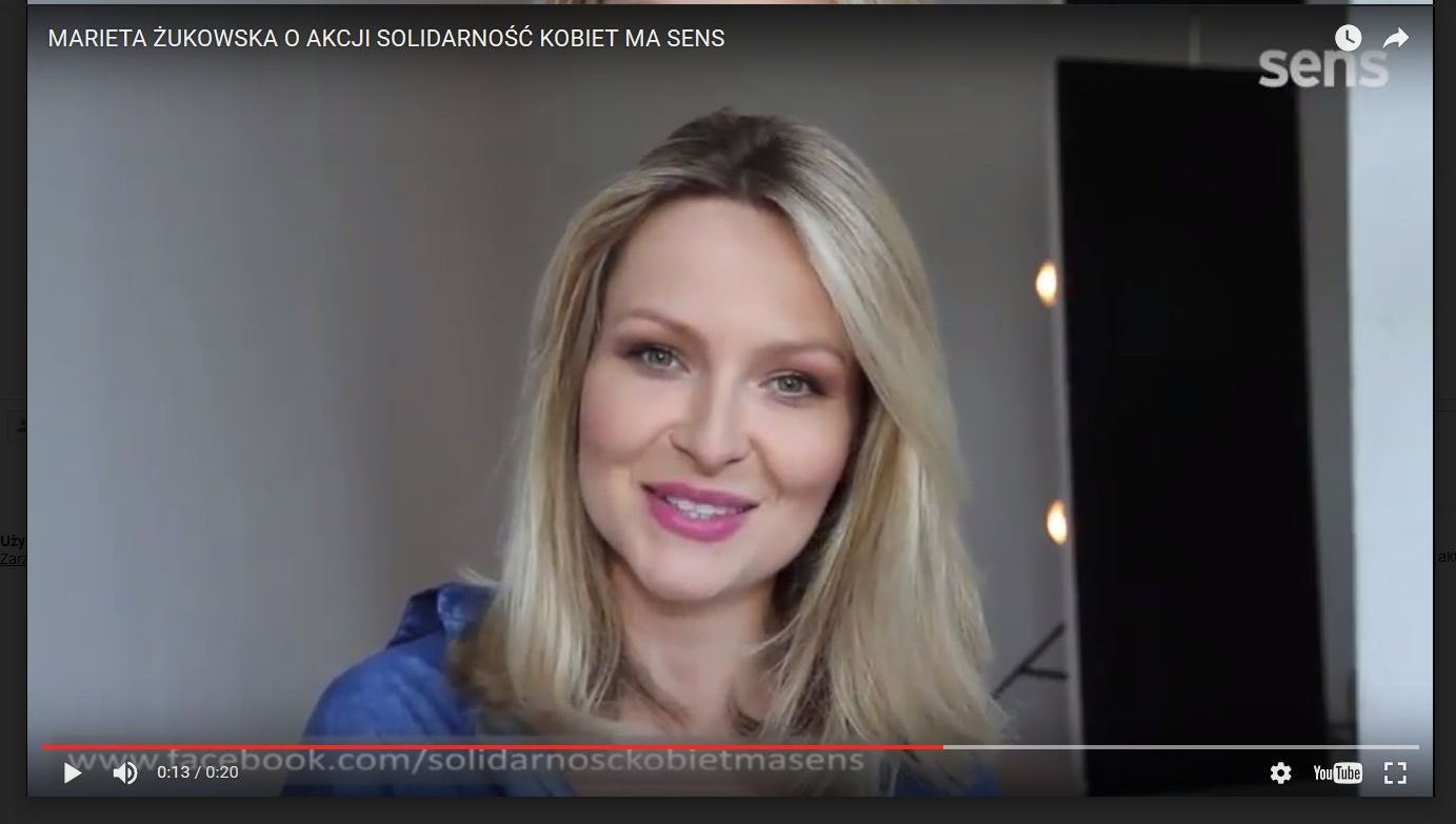 Marieta Żukowska o akcji Solidarność kobiet ma sens