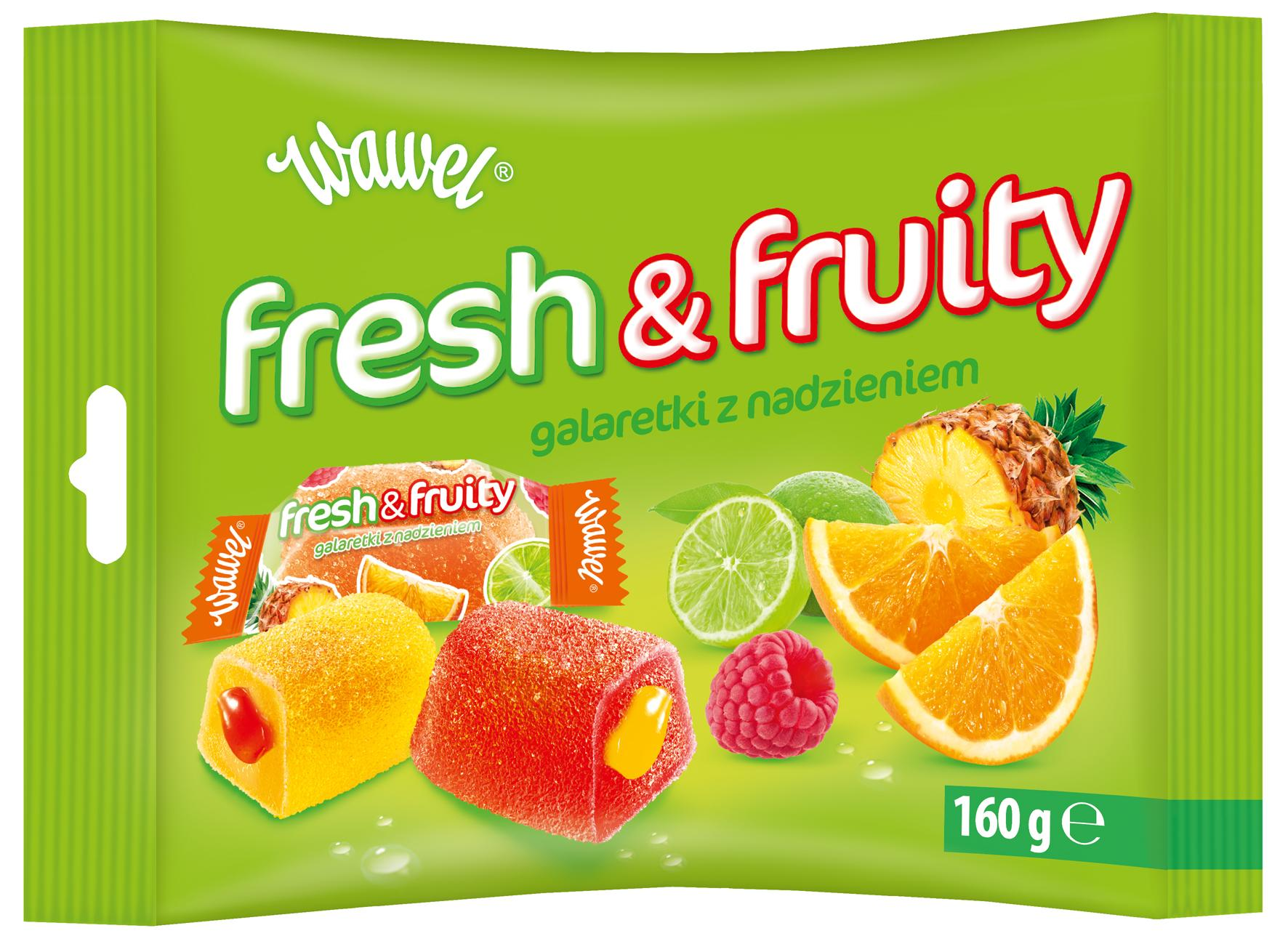 Slodkie owocowe galaretki Fresh & Fruity