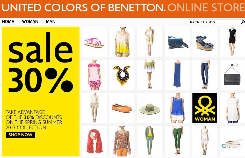 Rób zakupy w Benetton on-line!