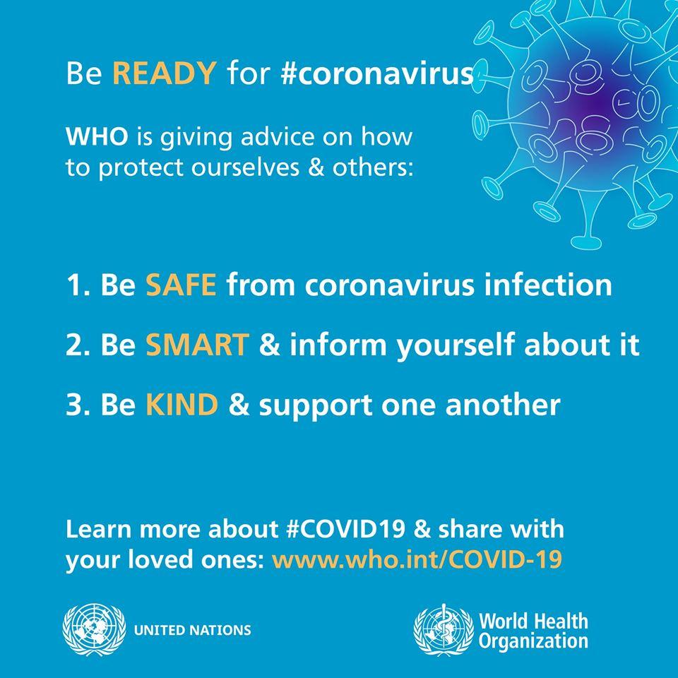 Nie wpadaj w panikę, dziel się faktami, bądź życzliwy – apeluje Światowa Organizacja Zdrowia