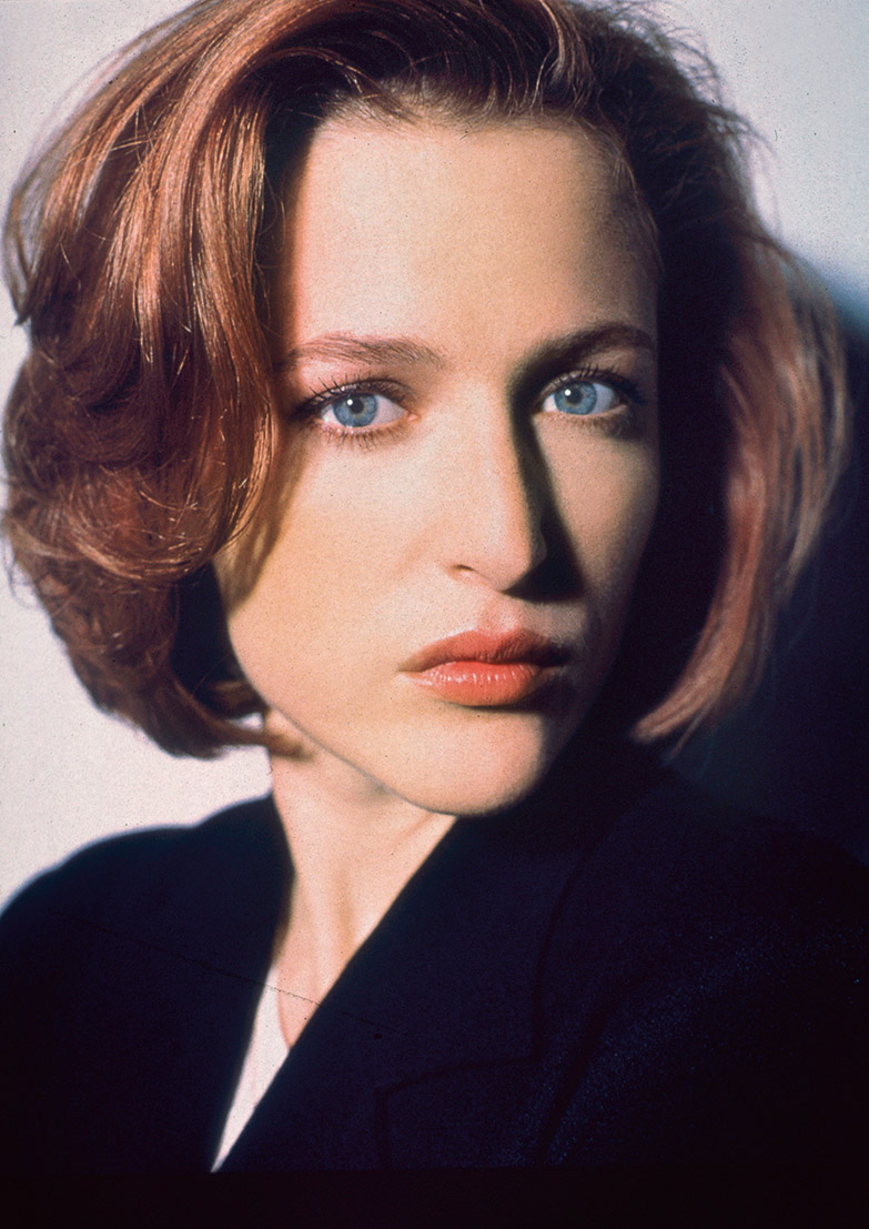 Gillian Anderson. Portret damy