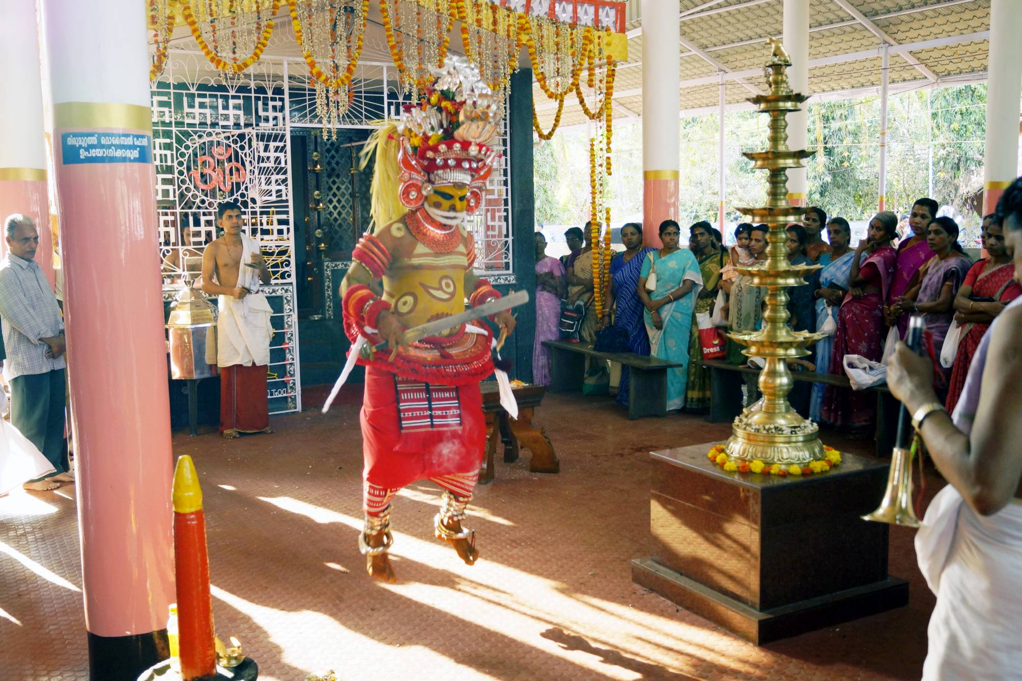 Mutapa podczas ceremonii