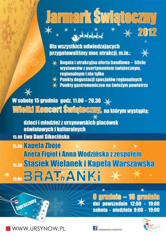 Ursynowski Jarmark Świąteczny 2012