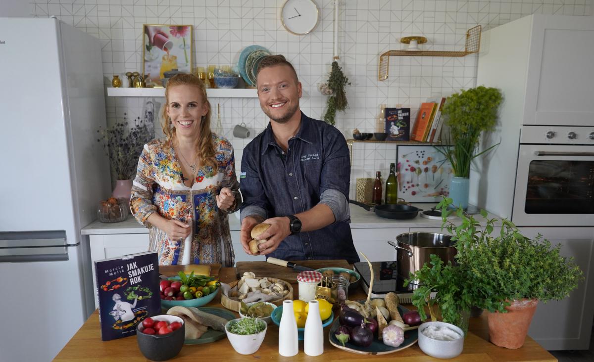 Gotuj sezonowo - pysznie i zdrowo! Marcin Molik poleca przepisy, Katarzyna Błażejewska-Stuhr ocenia
