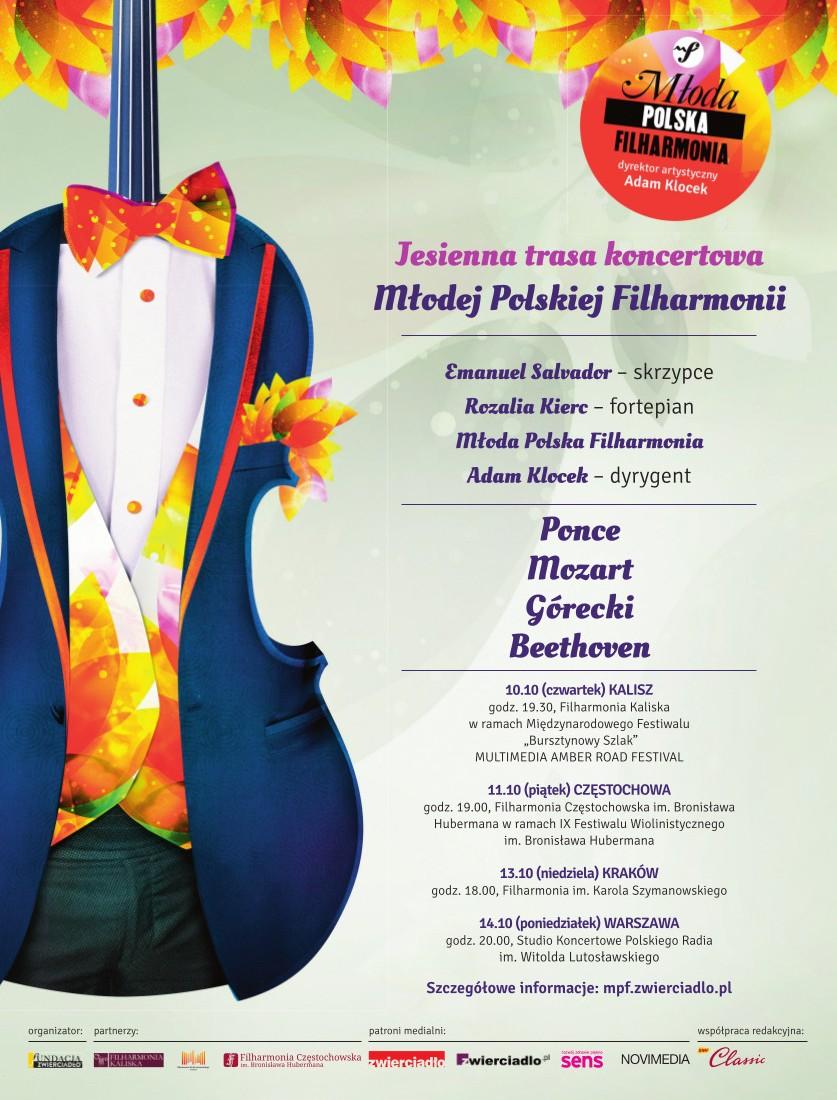 Jesienna trasa koncertowa Młodej Polskiej Filharmonii