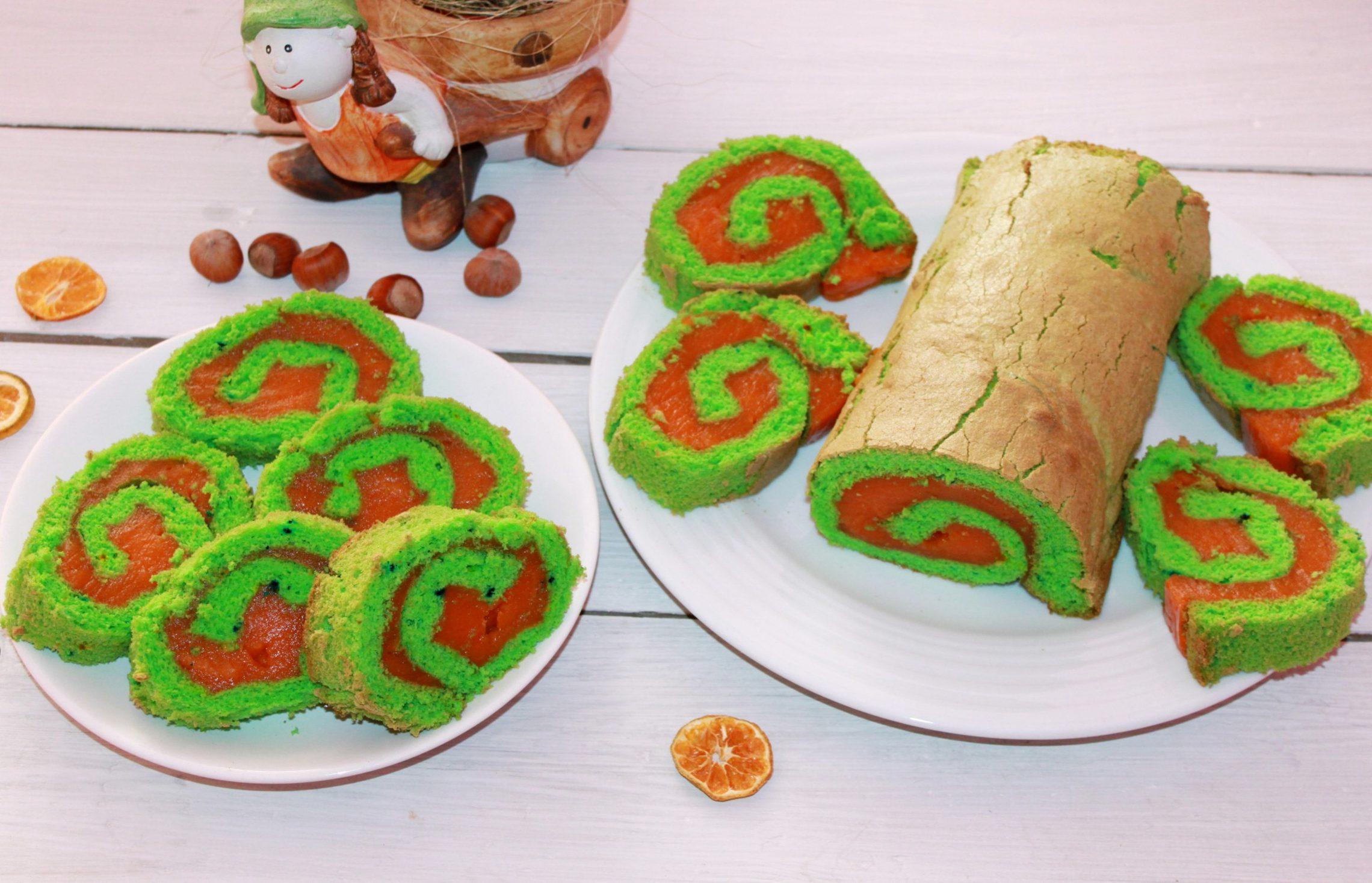 Rolada zielona z sokiem marchewkowym