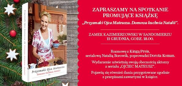 Spotkanie z Kingą Preis 11 grudnia na Zamku w Sandomierzu