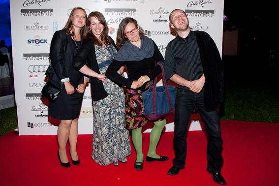 Gala Kryształowe Zwierciadla 2012, Magda Szeniawska (druga od prawej), nominowana do Nagrody Kryształki Zwierciadła 2012