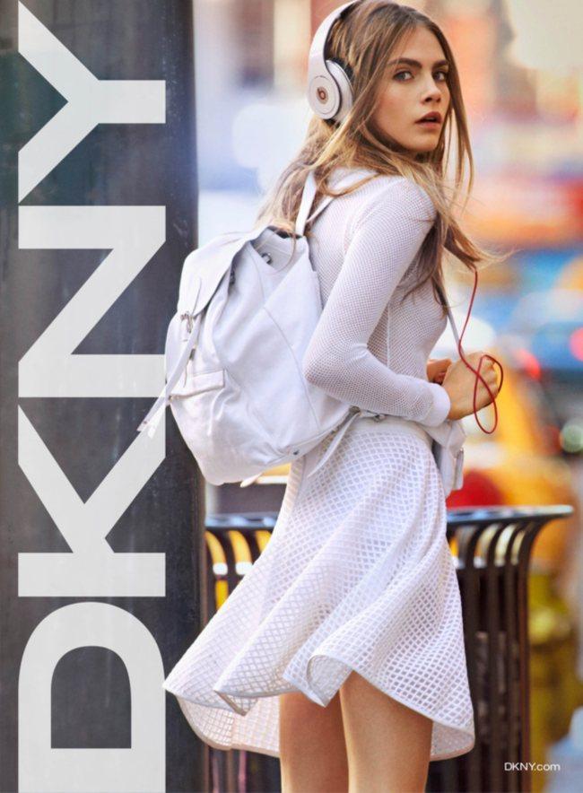 Cara Delevingne  w kampanii DKNY SS13