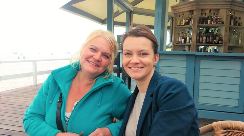 Na zdjęciu: Kamila Olga z mamą