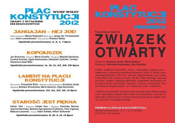 Teatr Polonia zaprasza na spektakle w plenerze