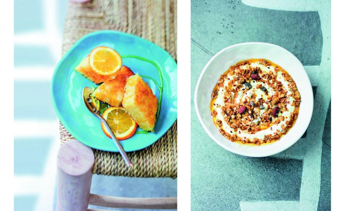 Od lewej: Portokalopita; Deser z jogurtu (Fot. Valerie lhomme/East News)