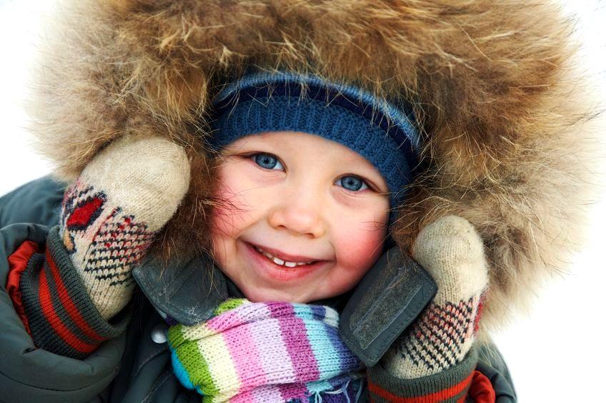 Zabawy z dziećmi na śniegu