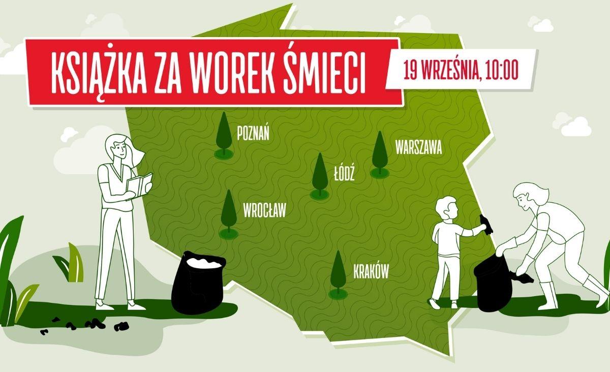 """""""To nie moje śmieci, ale moja planeta"""" – rozmowa z Anną Jaklewicz, organizatorką akcji """"Książka za worek śmieci"""""""