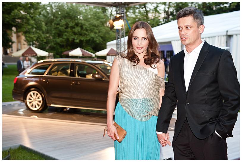Gala Kryształowe Zwierciadła 2012, Anna Dereszowska z mężem