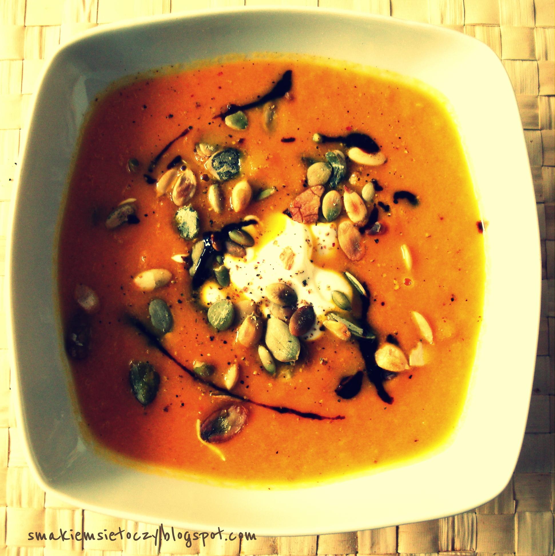 Zupa-krem z marchwi z pomarańczą i imbirem