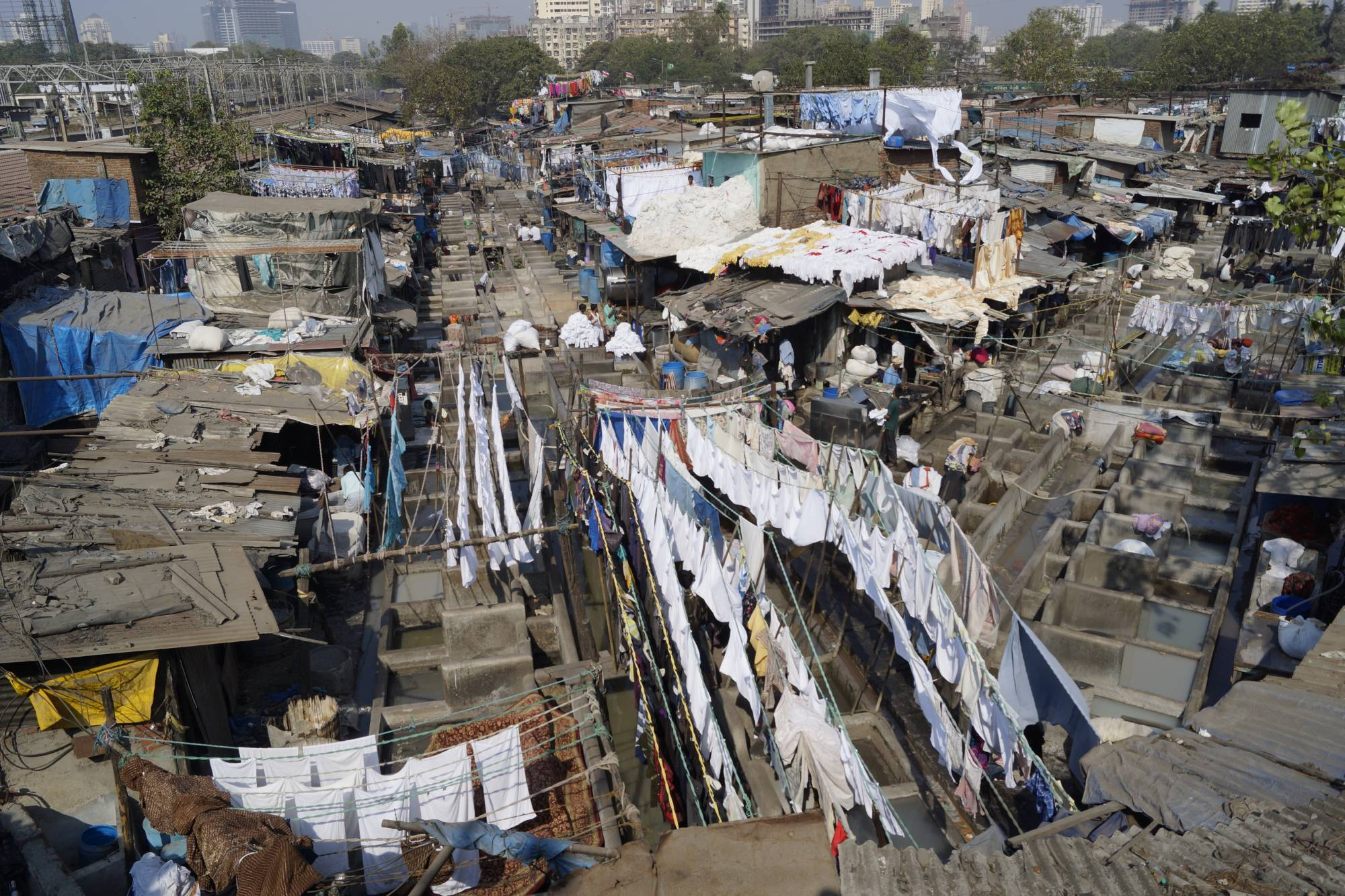 Miejska pralnia w Mumbaju