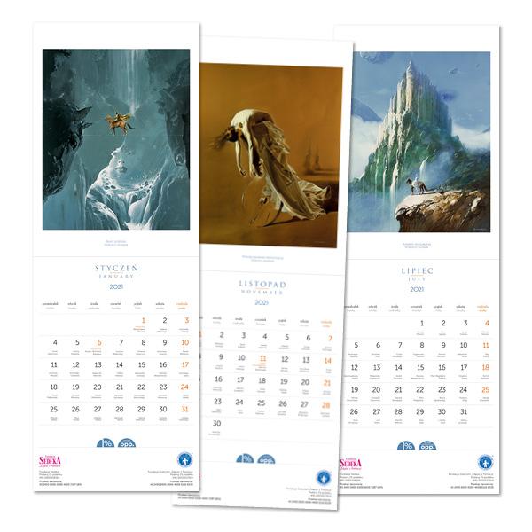 Styczniowe Zwierciadło z kalendarzem – obrazy światowej sławy artysty w twoim domu