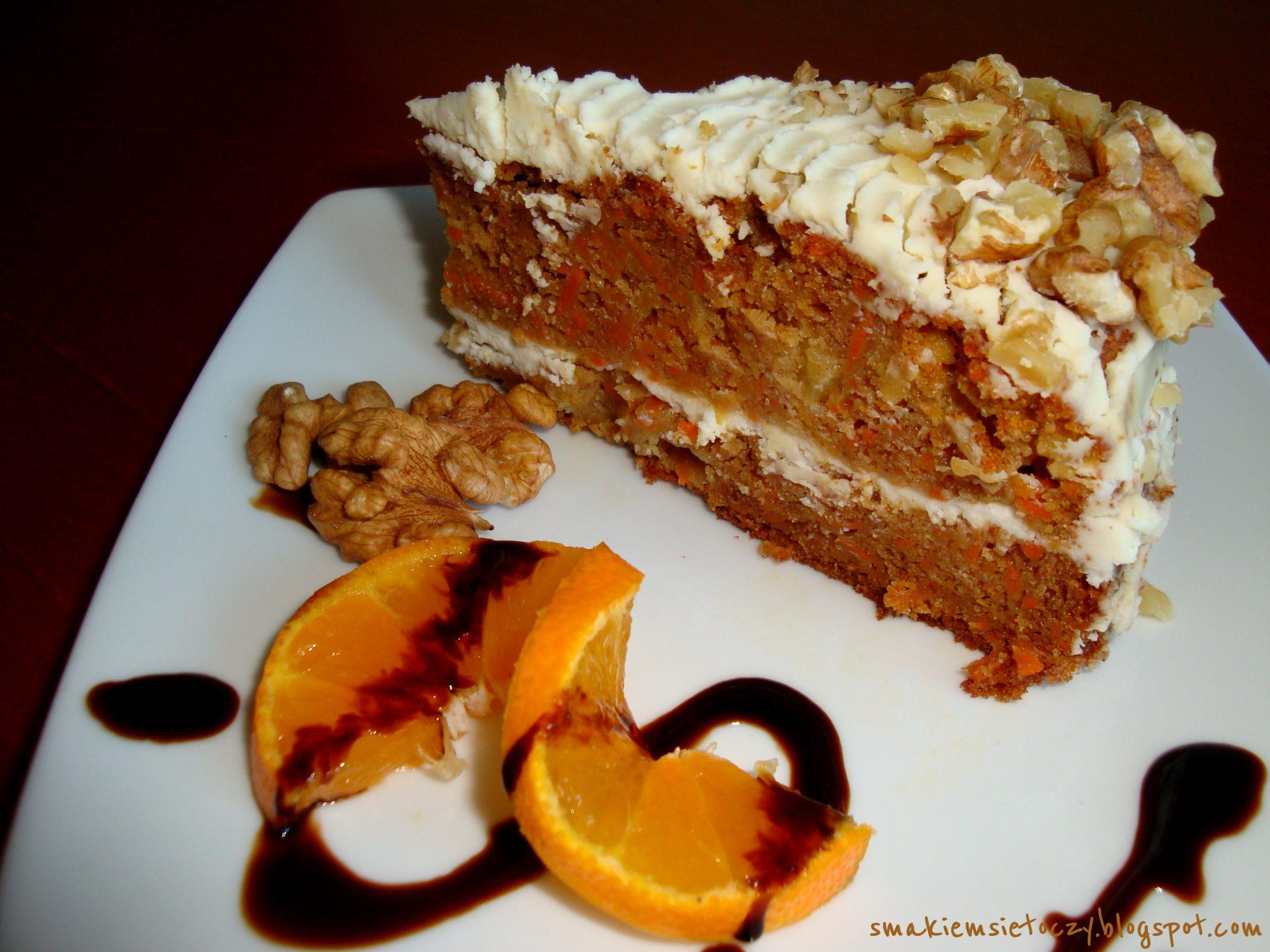 Ciasto marchewkowe z cytrynowym kremem mascarpone