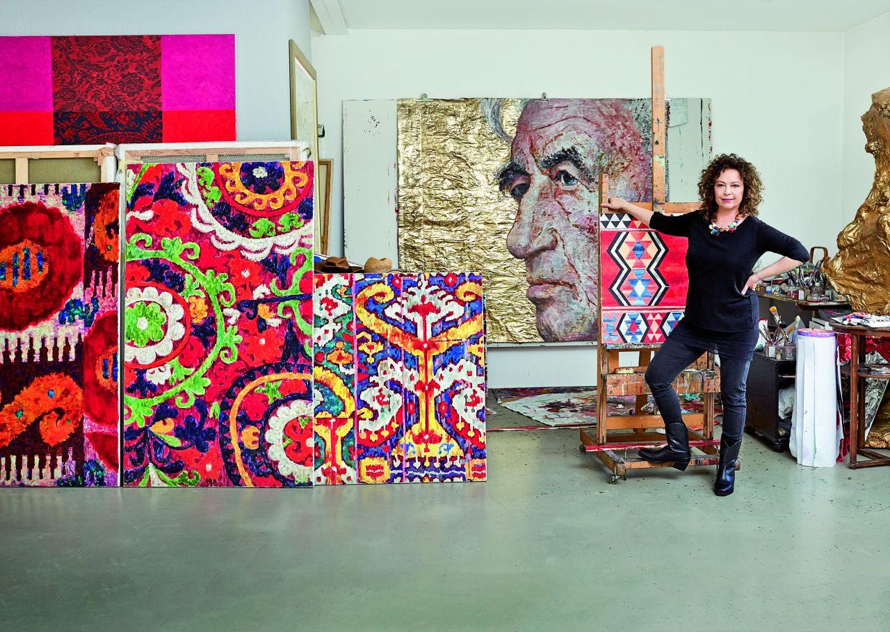 Olga Wolniak w swojej pracowni. Najlepiej lubi malować w samotności. (Fot. Celestyna Król)