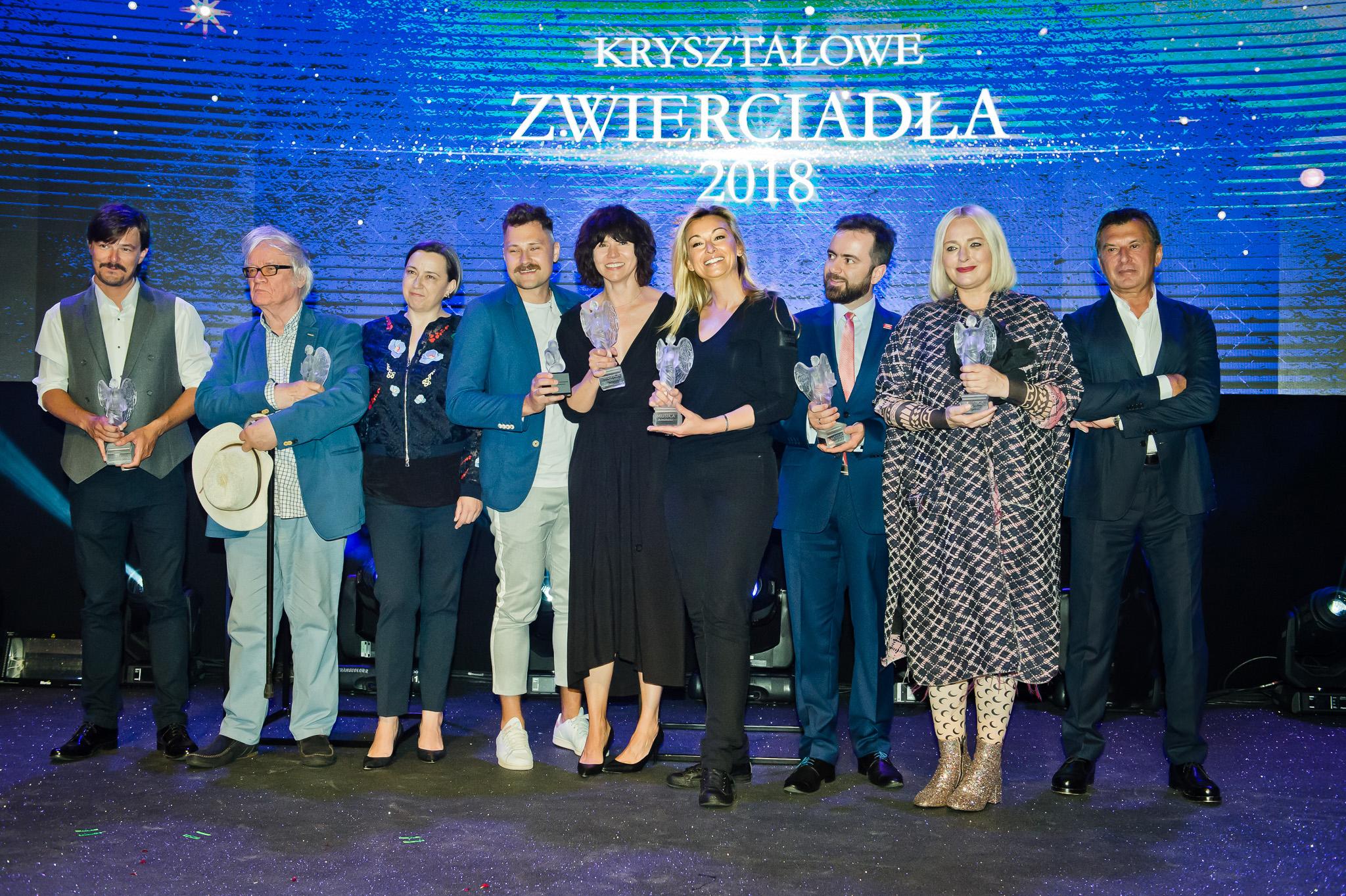 Kryształowe Zwierciadła 2018 dla Nosowskiej, Szumowskiej, Wojciechowskiej, Ogrodnika, Tygodnika Powszechnego i Józefa Wilkonia