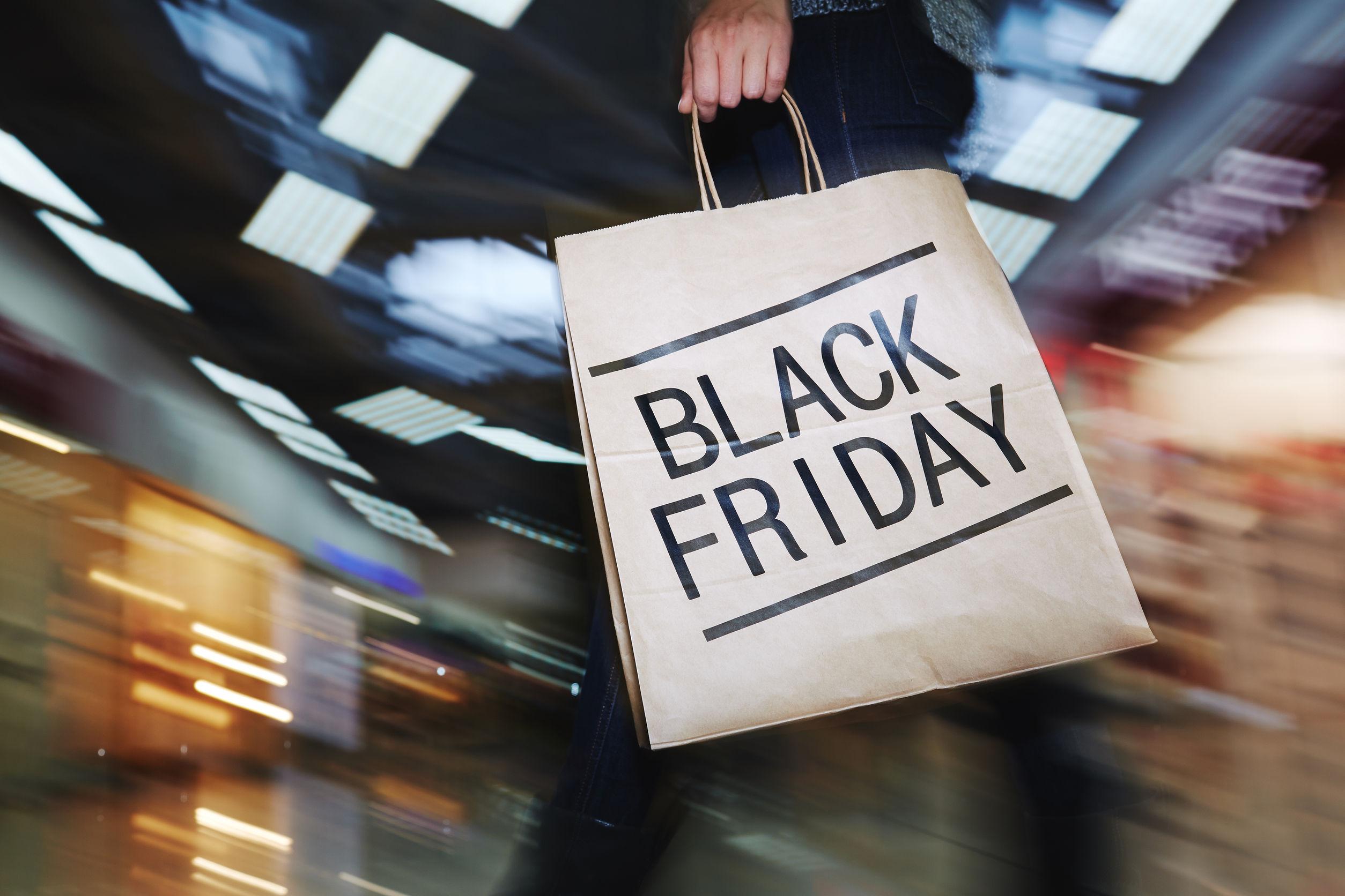 47783628 - female shopper visiting mall on black friday