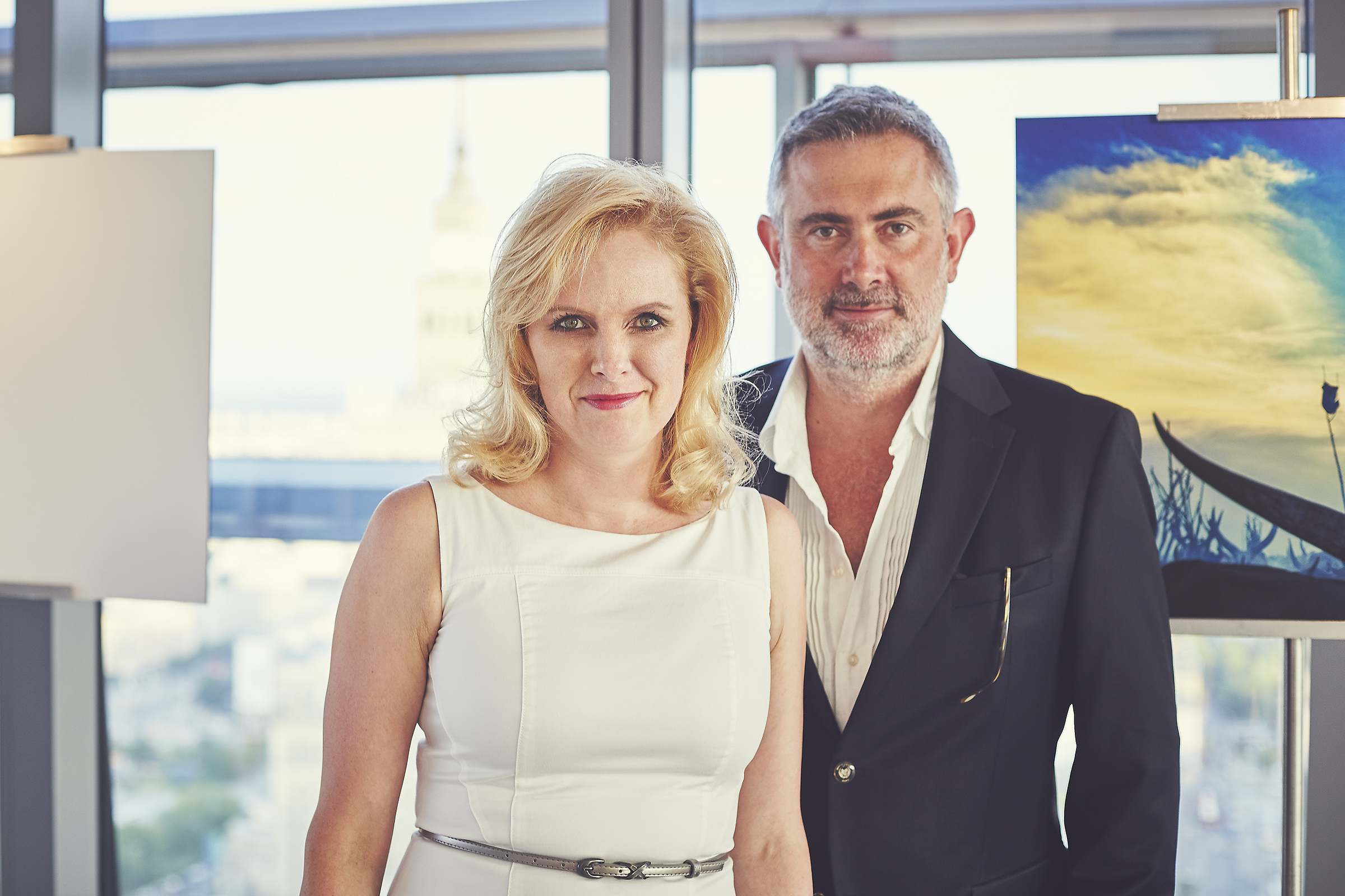 Marcin Kydryński z Karoliną Kaim, prezesem zarządu Tacit Investment