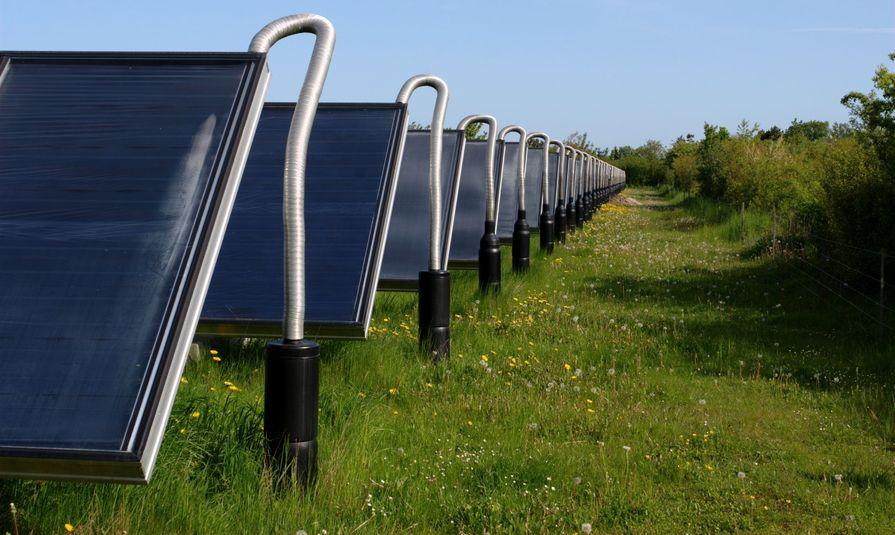 123RF.com / Energia słoneczna jest wykorzystywane do ogrzewania domów w Danii