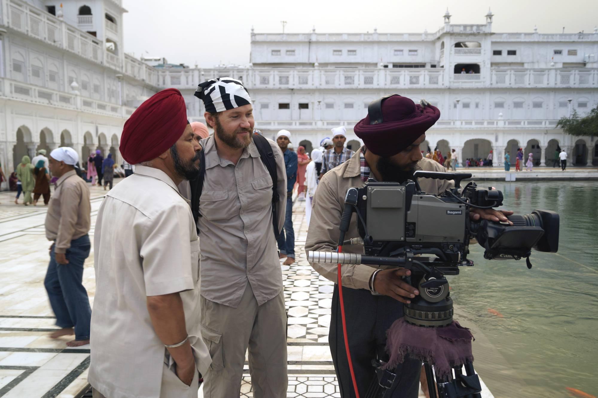 Jarek z sikhijskimi kolegami po fachu