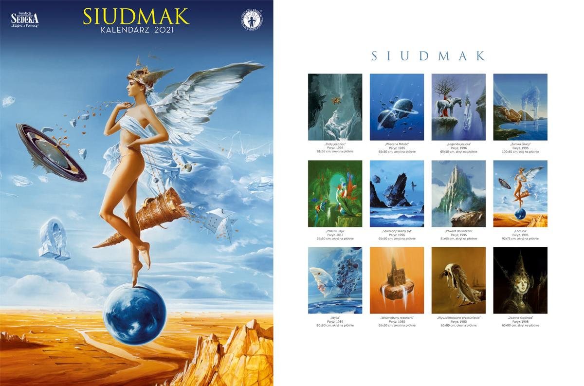 Obrazy światowej sławy artysty w twoim domu - styczniowe Zwierciadło z kalendarzem