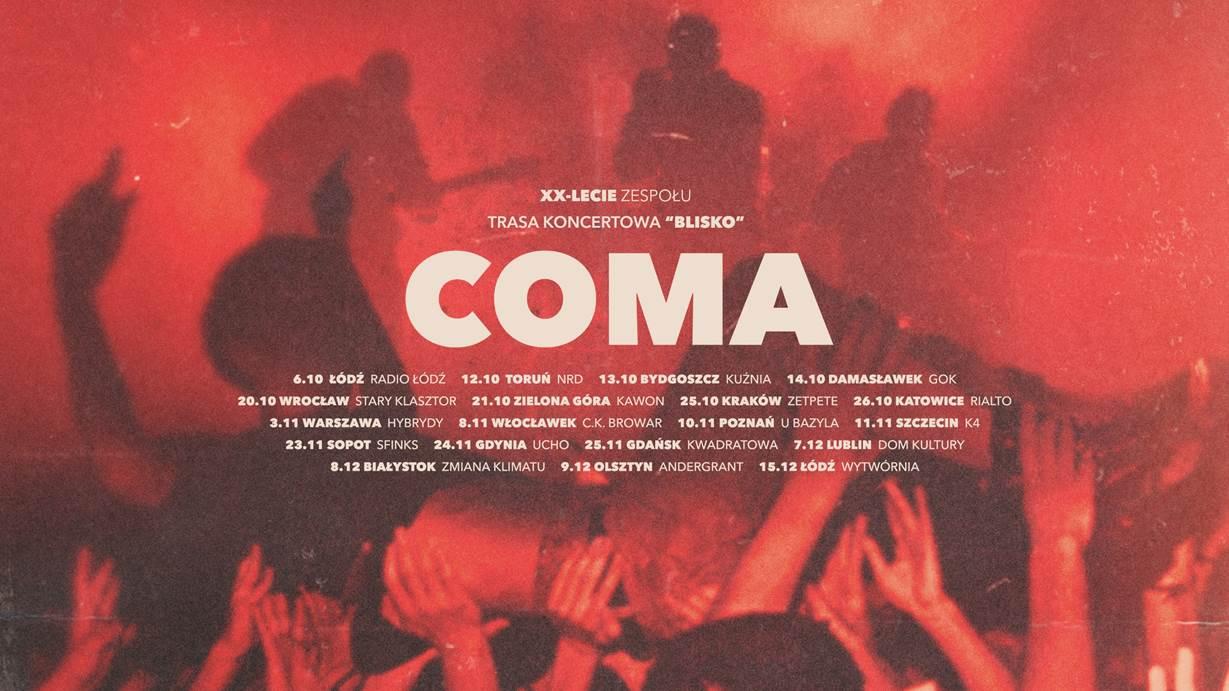 COMA zapowiada trasę koncertową z okazji 20-lecia zespołu