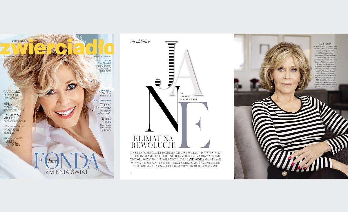 Jane Fonda na okładce sierpniowego Zwierciadła