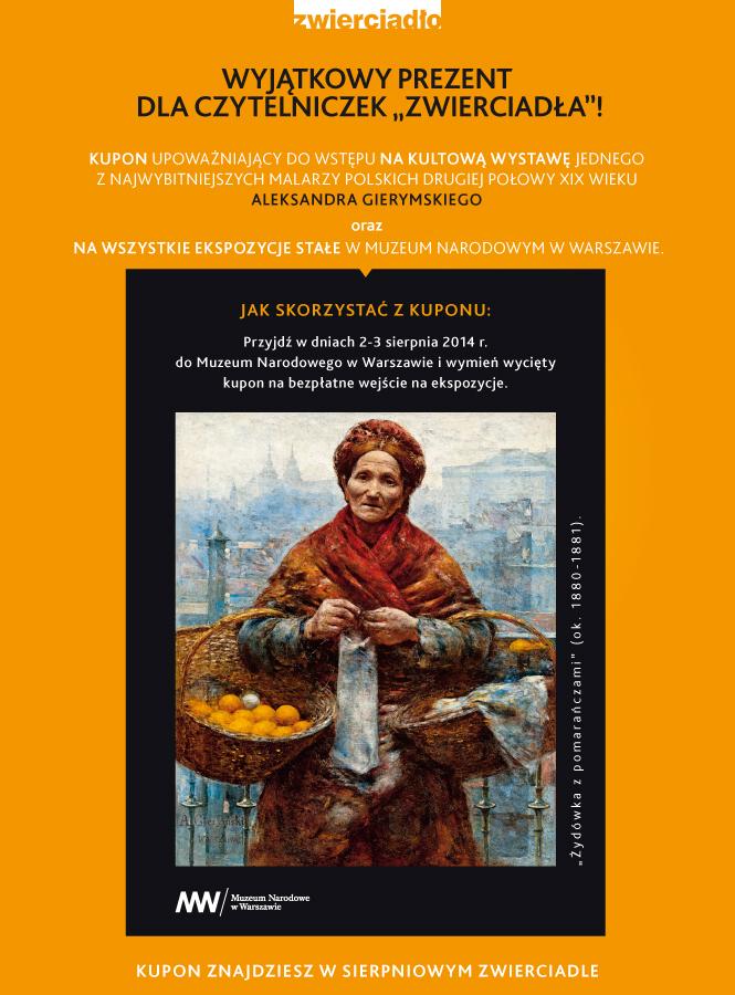 Bilet na wystawę Aleksandra Gierymskiego w prezencie