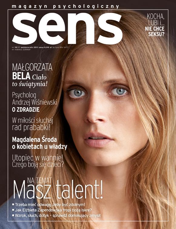 okładka magazynu Sens październik 2011