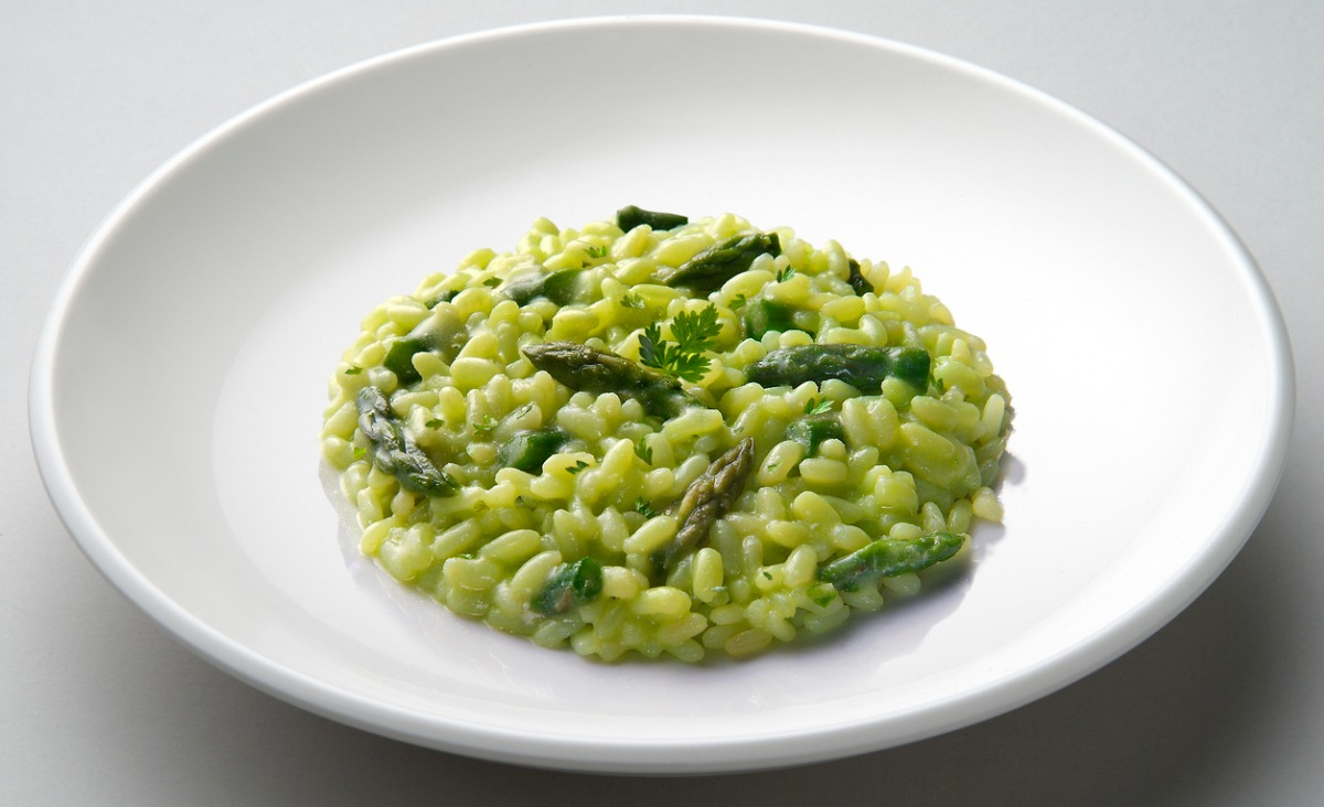 Risotto z zielonymi szparagami
