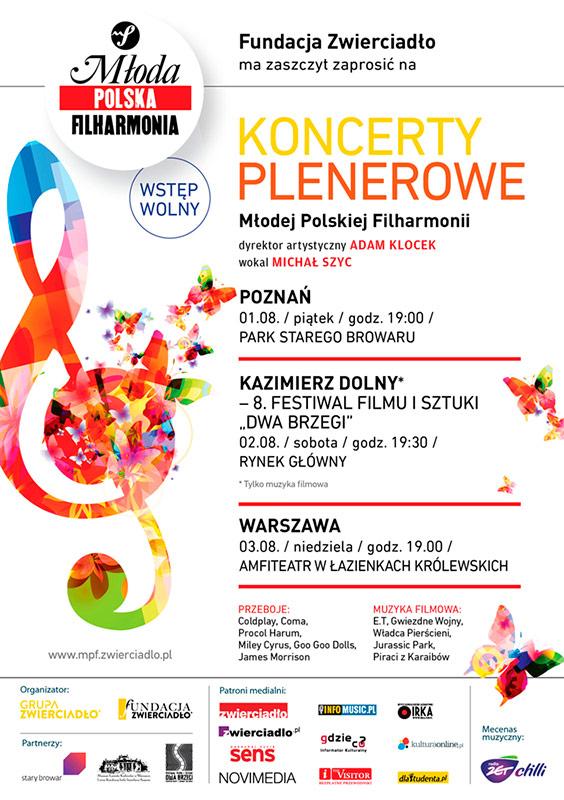 Plenerowe koncerty Młodej Polskiej Filharmonii