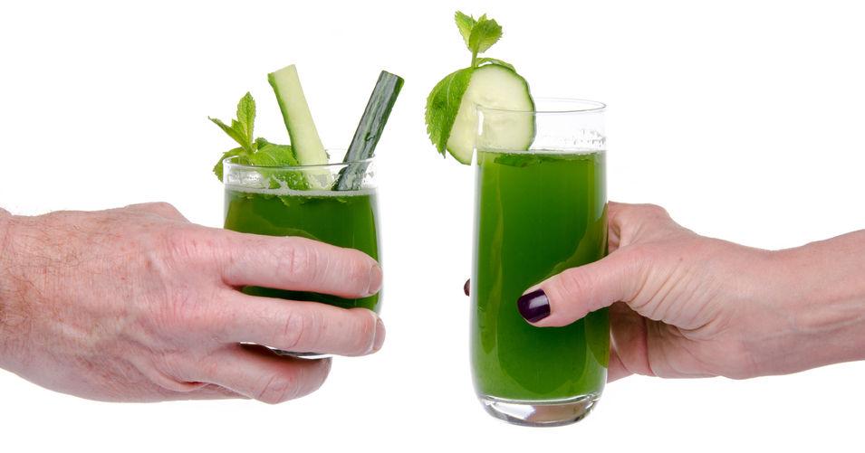Zdrowa dieta. Świeże soki warzywne