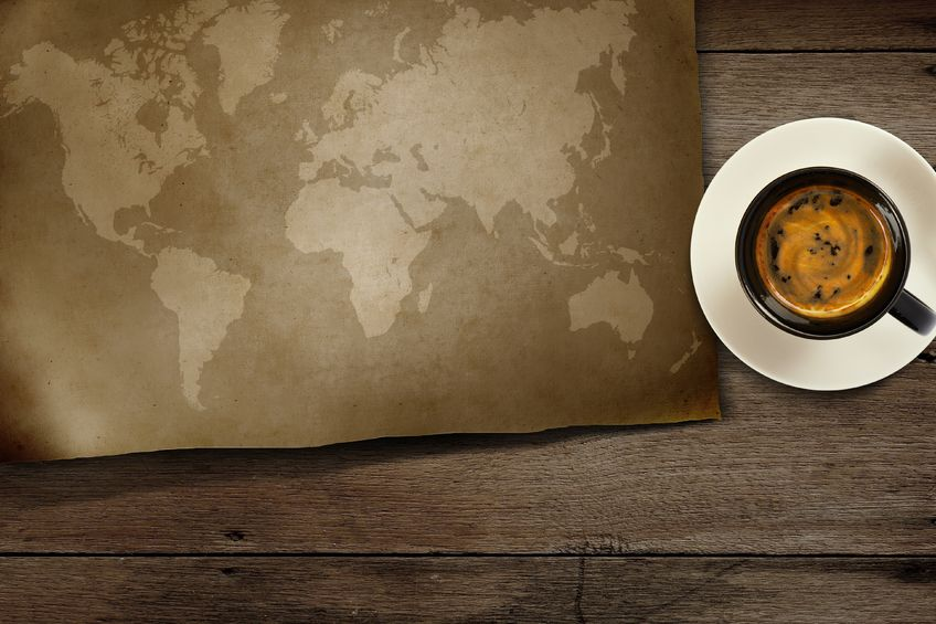 Kubik Kawy w podróży