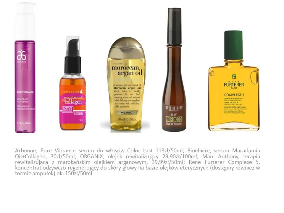 olejki - olejkowe spa do włosów