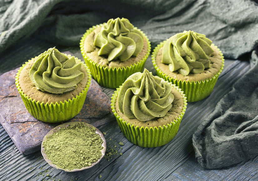 Babeczki z dodatkiem zielonej herbaty