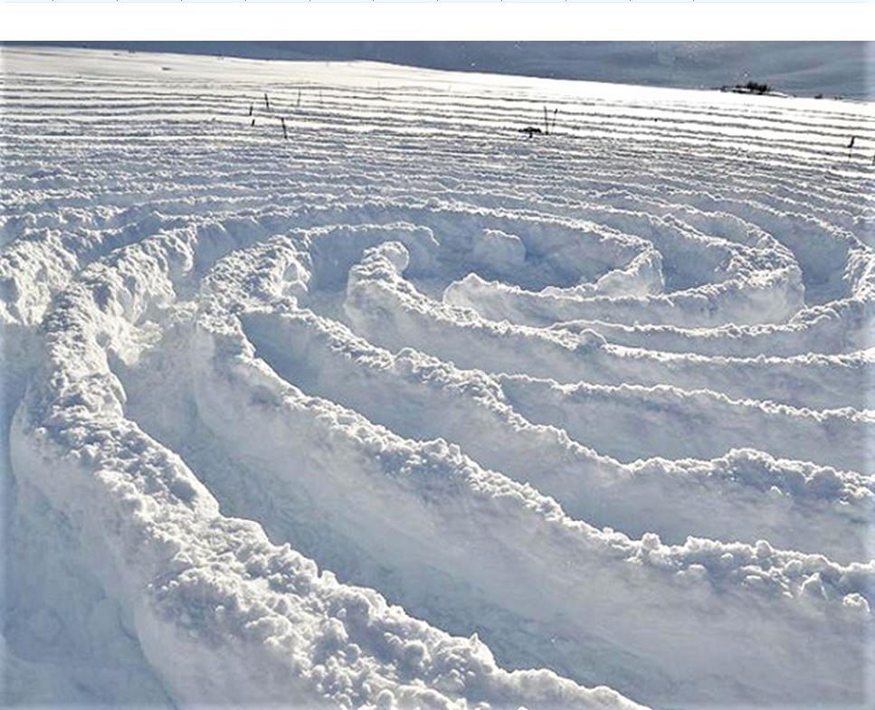 Śnieg zamiast płótna