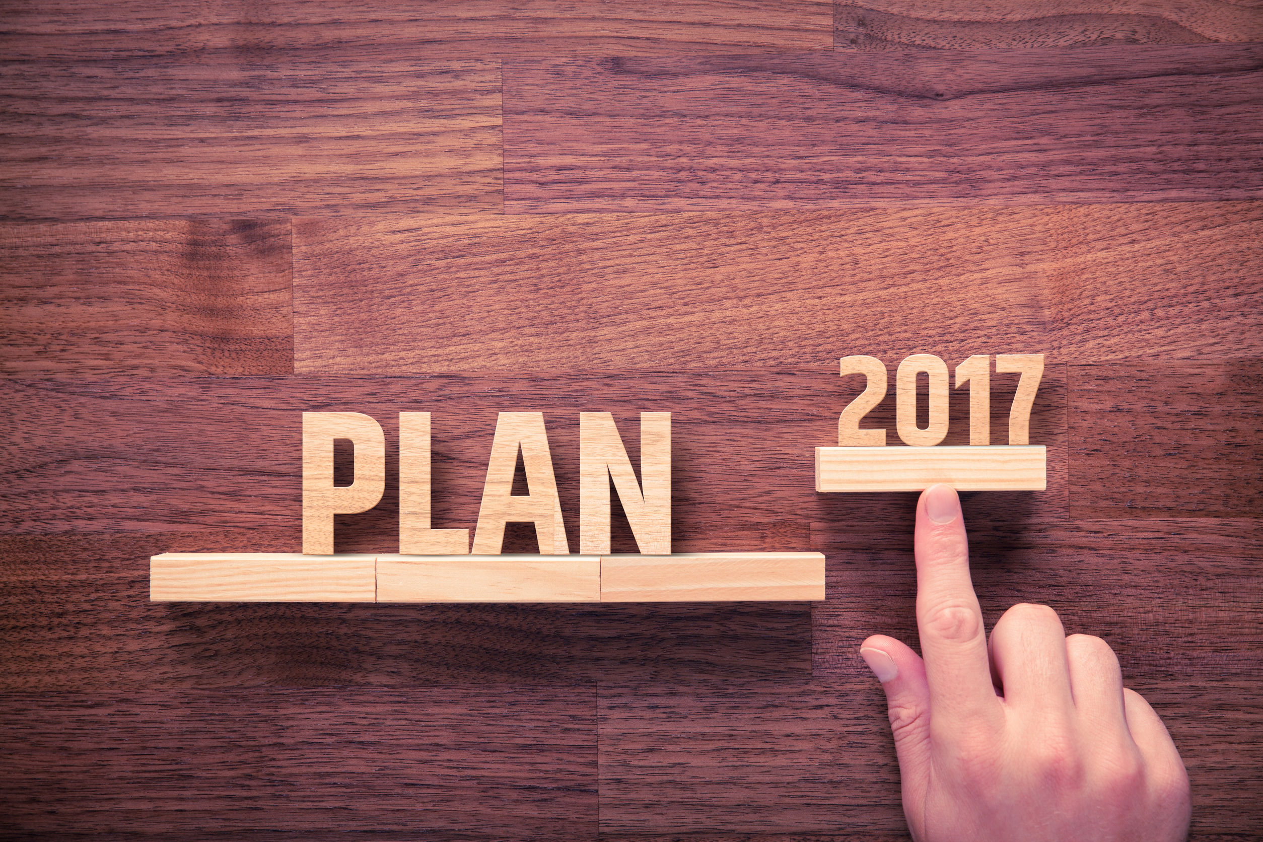 63909338 - businessman plan 2017. business new year plans, goals and targets concept.